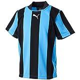 (プーマ)PUMA サッカー ストライプ半袖ゲームシャツ 903297 [ジュニア] 02 ブラック/サックス 120