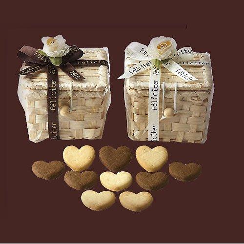 結婚式 プチギフト バレンタインのお菓子 退職『フェリシテバスケットクッキー24個セット』人気 クッキー お返し 大量 業務用