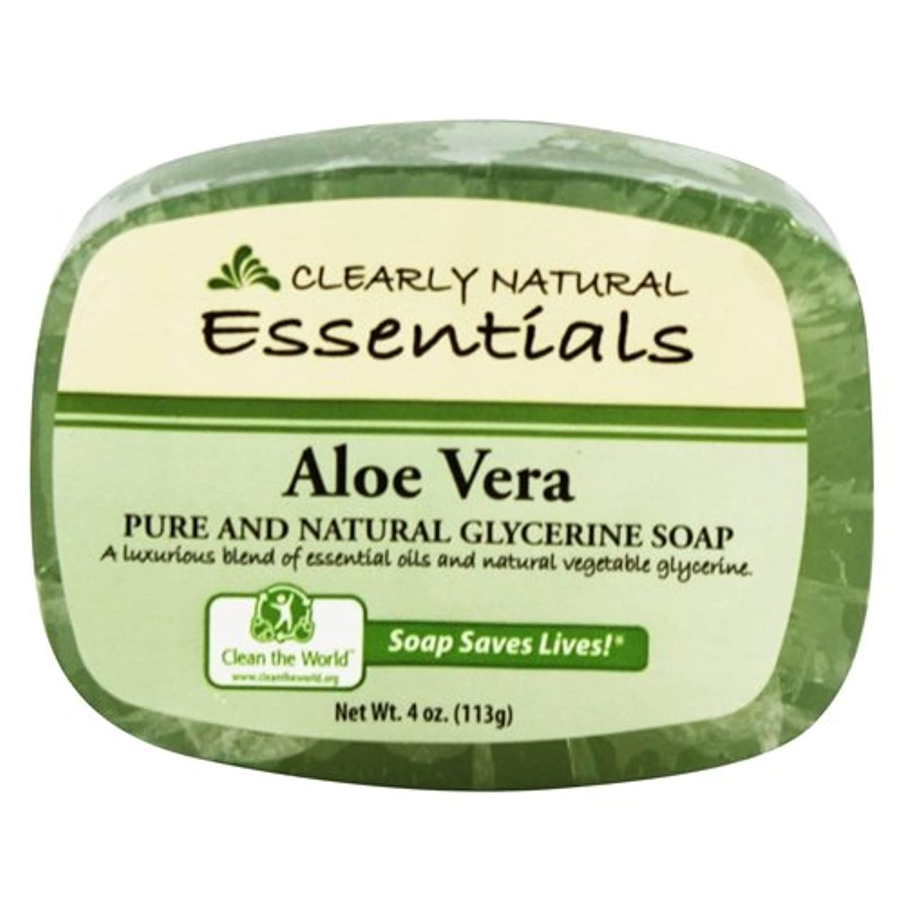 引用手伝うアテンダントClearly Natural - グリセリン石鹸アロエベラ - 4ポンド