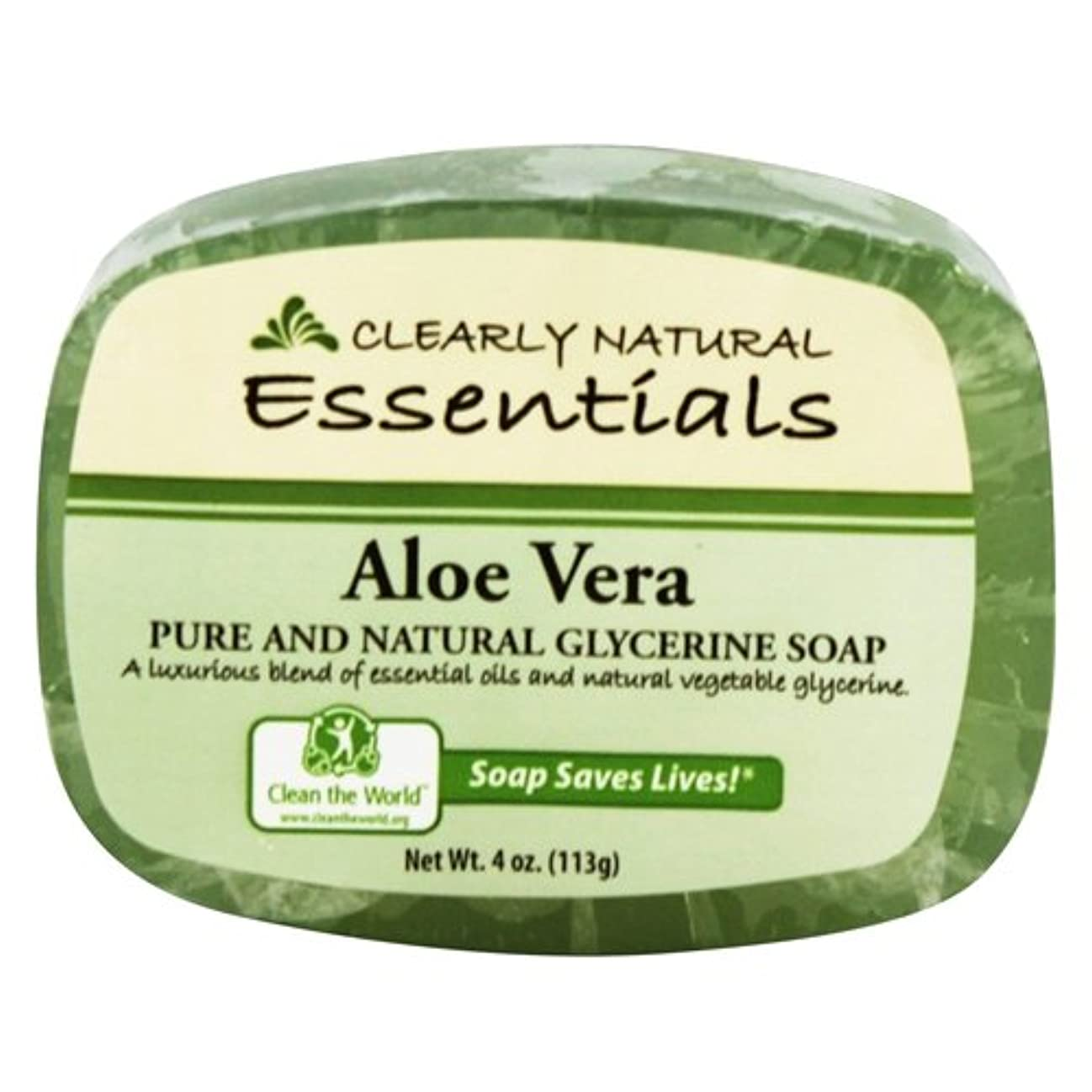 同意する根絶する制限Clearly Natural - グリセリン石鹸アロエベラ - 4ポンド