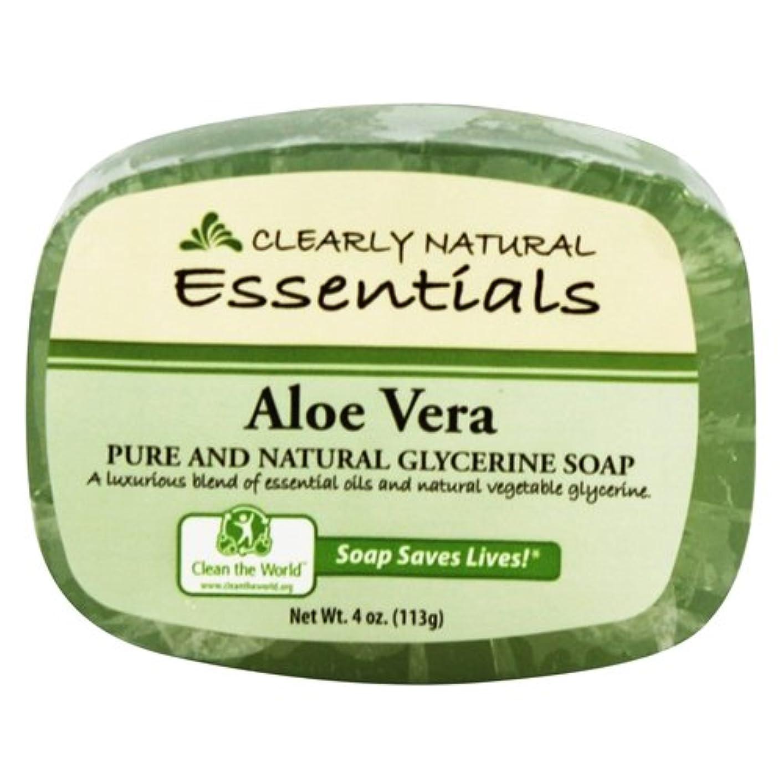 貼り直す離れて重量Clearly Natural - グリセリン石鹸アロエベラ - 4ポンド