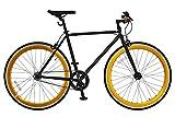 ANIMATO(アニマート) ピストバイク 700C シングルスピード PISTO 1年保証 (ブラックゴールド)