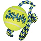 Kong AirDog Squeaker Ball wRope Medium Dog Toy
