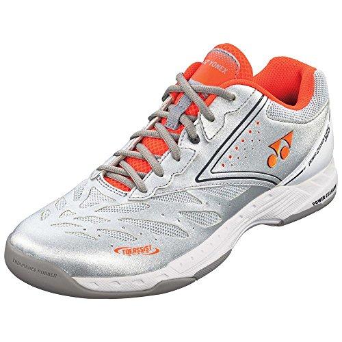 YONEX(ヨネックス)パワークッション505 ソフトテニス シューズ カーペット SHT505 368シルバーオレンジ 26.0