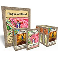 TorahLine Passover 2018 Game Bundle with 4 Card Games, 1 Expansion Pack, and 1 Giant Plague Deck