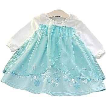 a15d2f0b89714 (MISOAMISO) ディズニープリンセス 子供用 ドレス キッズ 長袖 ワンピース アナ雪 エルサ アナ ソフィア