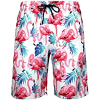 WENER Men's Short Swim Trunks,Best Board Running Swimming Beach Surfing Shorts,Quick Dry Breathable Mesh Lining