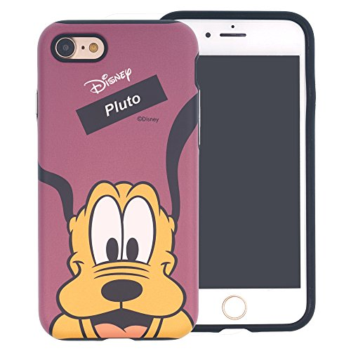iPhone 8 ケース / iPhone 7 ケース / Disney Pluto ディズニー プルート ダブル バンパー ケース / 二層構造 TPUケース + PCカバー / デュアルレイヤー 耐衝撃 薄型 衝撃吸収 / スマホケース おしゃれ / アイフォン8 / アイフォン7 ケース (面 プルート) [並行輸入品]