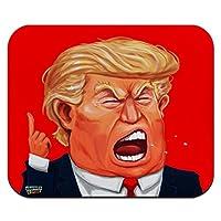 怒っているドナルドトランプの顔薄型薄型マウスパッドマウスパッド