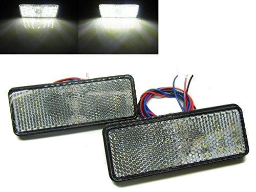 24v トラック・バス用/角型LED内蔵リフレクター/白色 ホワイト クリアレンズ/スモール&バックランプ連動/反射板機能付き/マーカー