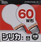シリカ電球LW100V57W55/2P LW100V57W55/2P -