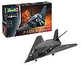 ドイツレベル 1/72 アメリカ空軍 F-117 ステルスファイター プラモデル 03899