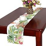 GGSXD テーブルランナー 美しいフラミンゴ クロス 食卓カバー 麻綿製 欧米 おしゃれ 16 Inch X 72 Inch (40cm X 182cm) キッチン ダイニング ホーム デコレーション モダン リビング 洗える