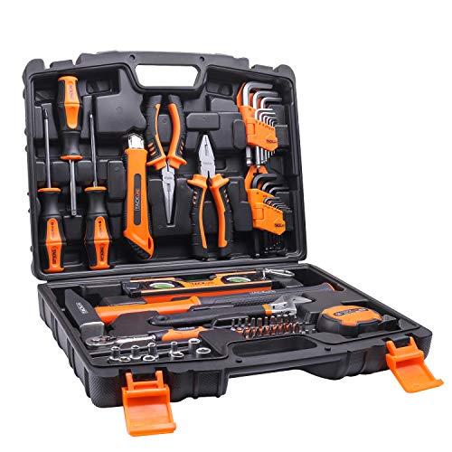 TACKLIFE HHK2A 工具セット 68PCS 作業道具セット 家庭修理&作業用 収納ケース付き