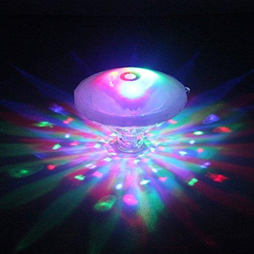 お風呂ライト バスタブライト LEDスイミングプールライト 防水 マルチカラー7種ライトモード 子供のお風呂に プールパーティーなど 電池式(バッテリー含まれません)2018ホットバスライトショー