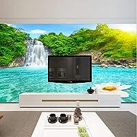 Xbwy 壁紙3 D 3 Dステレオ寝室のベッドサイドヨーロッパスタイルの壁紙リビングルームのソファ壁画風景大テレビの背景-250X175Cm