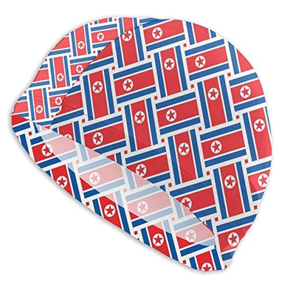 滑るスクラブ運動北朝鮮旗織りスイムキャップ スイミングキャップ 水泳キャップ 競泳 水泳帽 メンズ レディース 兼用 ゆったりサイズ フリーサイズ(28-33cm)