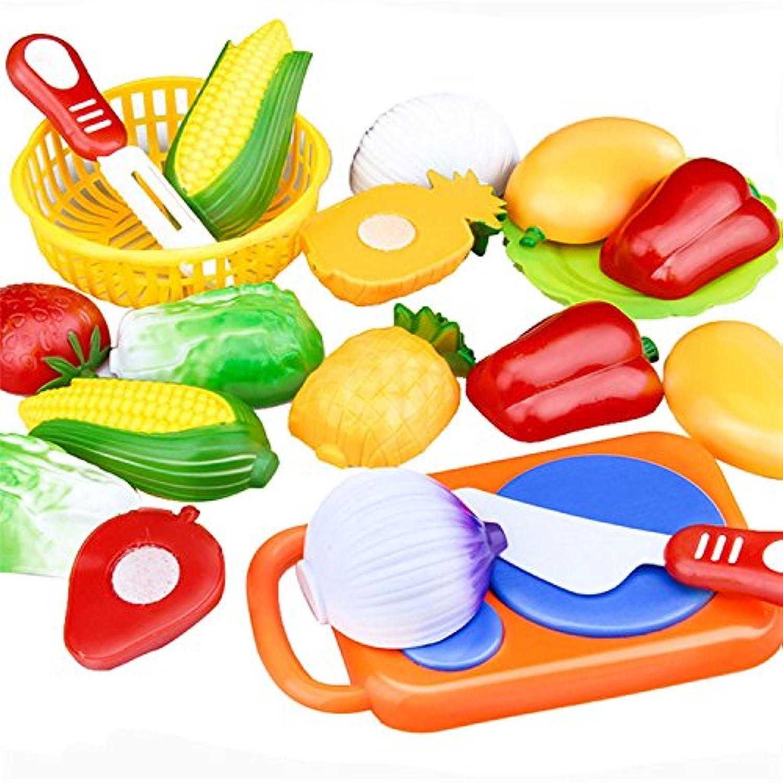 rayinaホット12pc Cutting Fruit Vegetableごっこ遊び子供キッド教育玩具Oct 07