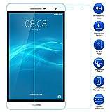 【MaxKu】Huawei MediaPad T2 7.0 Pro 強化ガラスフィルム 日本旭硝子素材採用 高透過率 薄型 硬度9H 飛散防止処理 2.5D ラウンドエッジ加工 自動吸着 液晶保護フィルム
