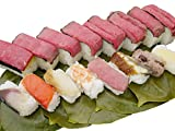 ≪こおりずし≫平宗のミニ柿の葉ずし8種4袋と『大和牛』ローストビーフ寿司の詰合せ