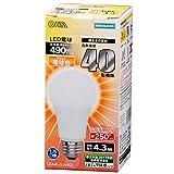 オーム電機 LED電球 広配光40W電球色 LDA4L-G AH52
