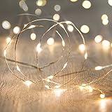 MANATSULIFE-イルミネーション LED ライト 電飾 電池 式 クリスマス ツリー 飾り (2M(20LED), ウォームホワイト)