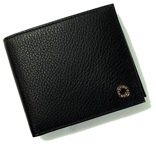 (ハンティングワールド)HUNTING WORLD 財布 メンズ 二つ折 KASHGAR (ブラック) 207-371 HW-503 [並行輸入品]