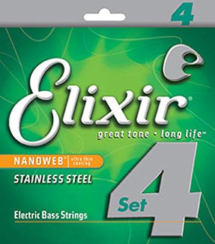 ELIXIR 14652 Stainless Steel with NANOWEB Light ベース弦 ×2セット