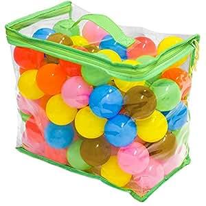 FIELDOOR カラーボール 7色 100個入り 直径5.5cm 【やわらかポリエチレン製】 (プール/ボールプール/ボールハウス用)