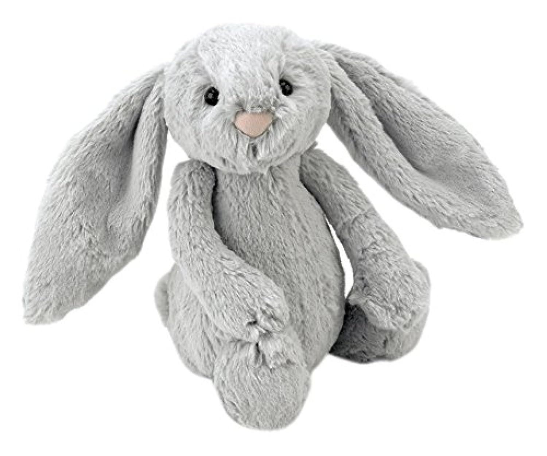 Jellycat(ジェリーキャット) バシュフル バニー S ぬいぐるみ  ウサギ 座高15cm シルバー