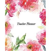 Teacher planner: Teacher Lesson Planner  Academic Calendar Year Organizer with Daily, Weekly & Monthly Lesson Log  Year Lesson Record Book (2019 Planner) Paperback