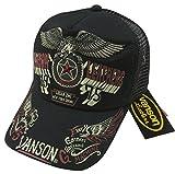 (バンソン)VANSON アメリカンイーグル ワンスター刺繍 ツイル地 メッシュキャップ NVCP-603 BLACK(ブラック×ブラック)