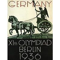 SPORT ADVERT 1936 OLYMPIC GAMES BERLIN GERMANY STATUE CHARIOT POSTER 30X40 CM 12X16 IN スポーツ広告オリンピックゲームベルリンドイツ人像ポスター