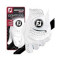 新しいFootjoy Contour FLX FlexメンズプレミアムゴルフグローブW/CabrettaSofレザー# 1グローブでゴルフ L ホワイト