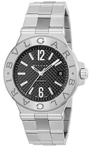 [ブルガリ]BVLGARI 腕時計 ディアゴノ ブラック文字盤 自動巻 デイト DG40BSSD メ...