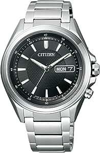 [シチズン]CITIZEN 腕時計 ATTESA アテッサ Eco-Drive エコ・ドライブ 電波時計 ディスク式3針デイ&デイト AT6040-58E メンズ