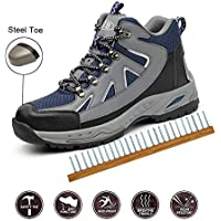 Safety Shoes, Steel Toe Cap Trainers Lightweight Mens Womens Safety Shoes Work Midsole Protection,39/EU