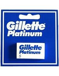 Gillette Platinum [プレミアムホワイトボックス版!] ジレット プラチナ 両刃替刃 50個入り (5*10) [海外直送品] [並行輸入品]