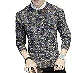【 Smaids×Smile 】 メンズ 秋冬 カジュアル ニット セーター 編み柄 メランジ おしゃれ 長袖 リブ