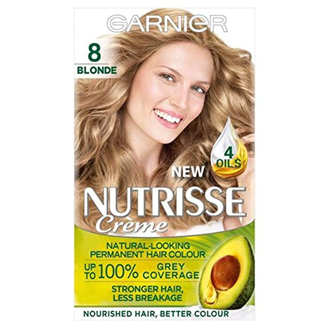 伝染性消去動員する[Nutrisse] 8ブロンドの永久染毛剤Nutrisseガルニエ - Garnier Nutrisse 8 Blonde Permanent Hair Dye [並行輸入品]