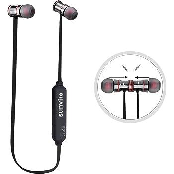 sunvito Bluetooth 4.1 ISSCチップ イヤホン ワイヤレス バイノーラル イヤホン 防汗 高音質 軽量 イヤホン ハンズフリー通話 (ブラック)