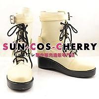 【サイズ選択可】コスプレ靴 ブーツ J-0289 ファイナルファンタジーXIII ホープ・エストハイム Hope Estheim 女性23.5CM