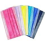 メロウストア マスク シンプルディープカラー 6色セット 不織布 ぴったりフィット 三層構造タイプ 大,6色セット