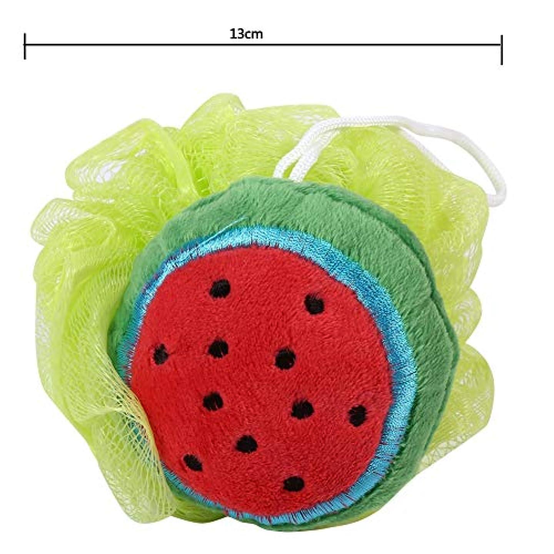 郵便味方ブルゴーニュ泡立てネット ボール お風呂 ボディ洗い 柔らかい ボディウォッシュボール 可愛い果物形 子供 大人にも対応(スイカ)