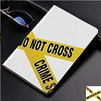 IPad Pro 11 ケース 2018新モデル対応 二つ折スタンド保護ケース iPad Pro 11インチ 専用カバー オートスリープ機能付き 手帳型 タブレットカバー黄色いテープは領域法医学科学の警告を交差させないでください
