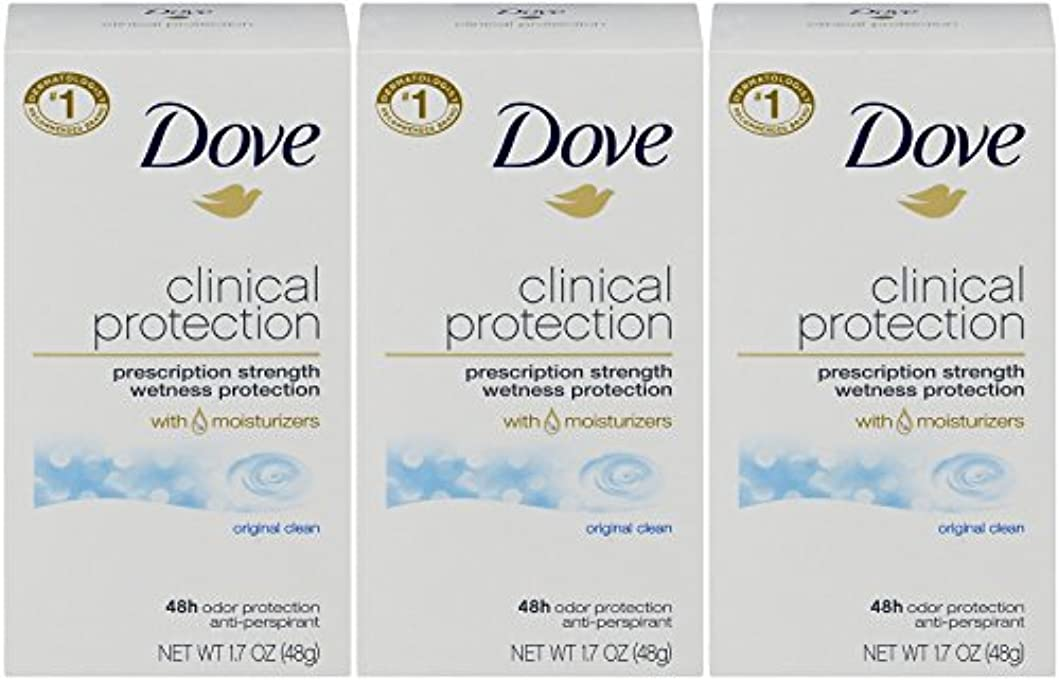 オズワルドマルコポーロ楕円形Dove Clinical Protection Antiperspirant Deodorant, Original Clean, 1.7 Oz by Dove