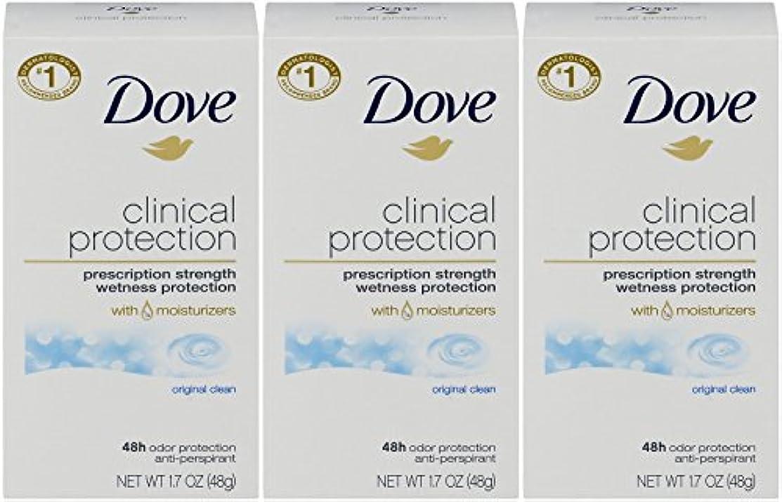 本質的ではないコークス二Dove Clinical Protection Antiperspirant Deodorant, Original Clean, 1.7 Oz by Dove