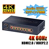 ELEVIEW 4K60Hz HDR対応 HDMI分配器 1入力2出力 2画面同時出力|異なる解像度出力可能 ダウンスケール機能 オーディオEDIDセッティング HDCP2.2 HDMI2.0 スプリッター PS4pro/Xbox One/Fire tvなどに適用 ACアダプタ付き EHD-603N
