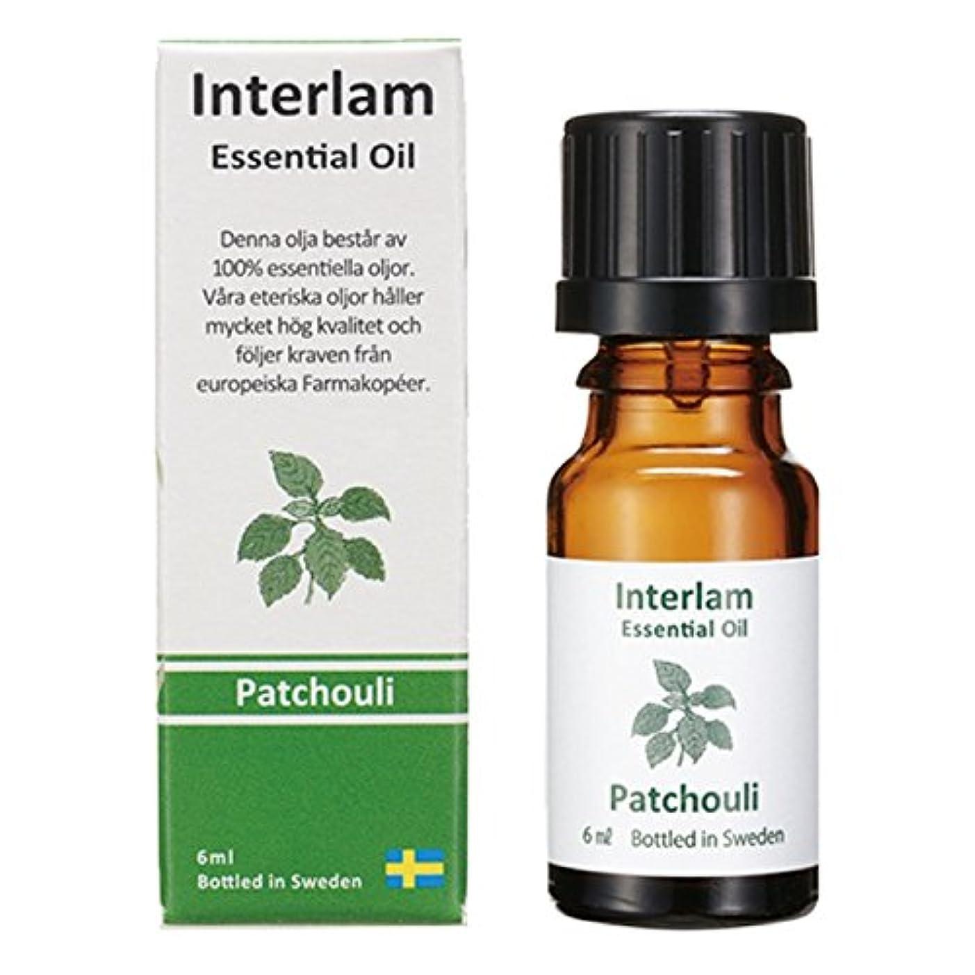 印象的な過敏な行動Interlam エッセンシャルオイル パチュリ 6ml