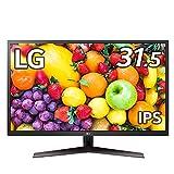 LG フレームレス モニター ディスプレイ 32MP60G-B 31.5インチ/フルHD/IPS/HDMI,DP,D-Sub/FreeSync/75Hz/1ms(MBR)/フリッカーセーフ、ブルーライト低減機能